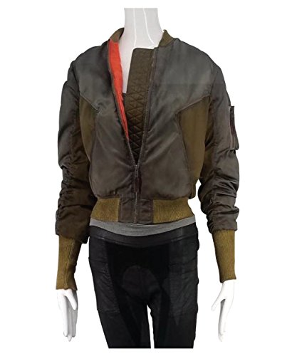 [Scarlett Johansson Costume Ideas Ghost In the Shell Major Brown Satin Jacket For Womens M] (2017 Movie Costumes Ideas)