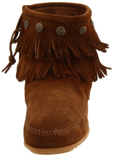 Minnetonka Hi Top Back Zip Boot 691T - Botas de ante para mujer Marrón (Braun (Dusty Brown))