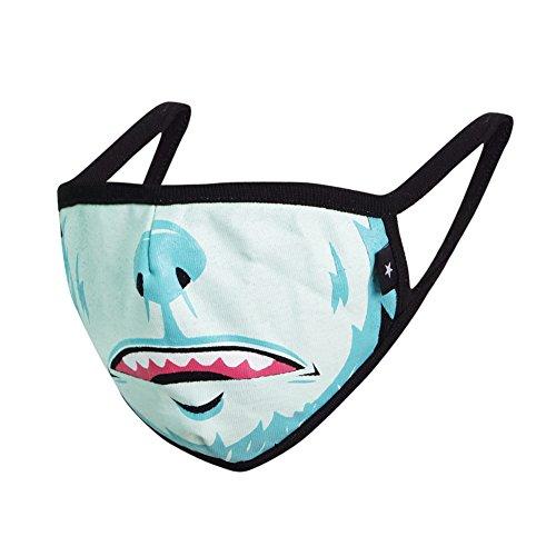 Flu Graphics - COOTERBOY Graphic Mask Unisex Fashion Antidust Face Mouth Mask Muffle Flu Surgical Washable Warm Reusable Ski Cycling Multiple Mask (Yeti)