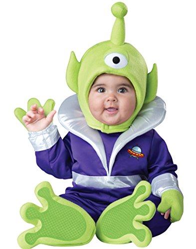 InCharacter Costumes Baby's Mini Martian Costume, Green/Purple, Small