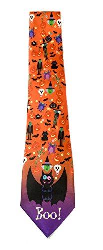 Stonehouse Collection Men's Halloween Tie - Funny Novelty Halloween Tie -
