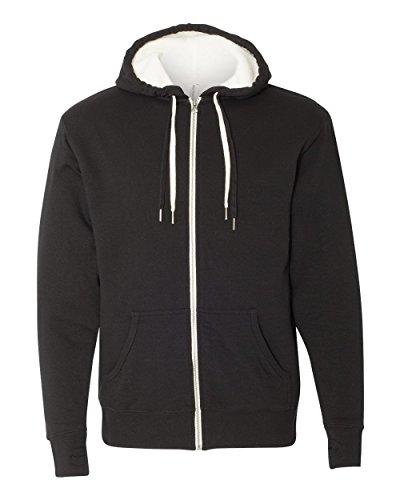 Independent Trading Co  Unisex Full Zip Hooded Sweatshirt  Black  Xx Large