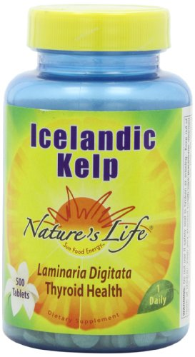 Nature's Life Icelandic Kelp Tablets, 41 Mg, 500 Count