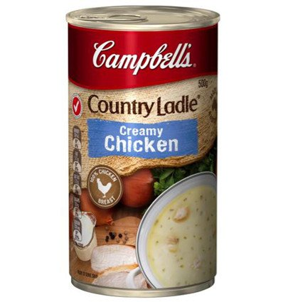 Campbell Soups Country Ladle Creamy Chicken Soup 500gm
