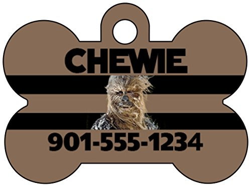 Disney Star Wars Chewbacca Dog Tag Pet Id Tag Personalized w/ Your Pet's Name & Number]()