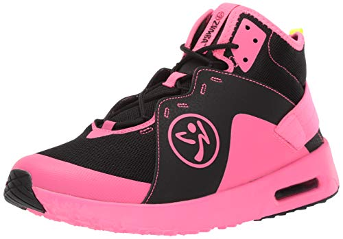 Zumba Women's Air Classic Athletic Dance Workout with Max Impact Protection Sneaker Athletic Shoe, Black/Pink, 8.5 Regular US