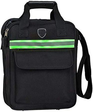 耐久性工具バッグ 反射ストライプパワーツールのショルダーバッグ多機能工具収納ハンドバッグ機能 工具収納&仕分け管理&運搬用 (色 : Black, Size : One size)