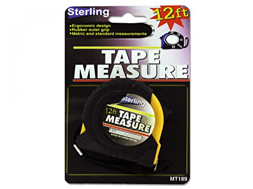 Tape Measure With Rubber Outer Grip - Set of 96, [Tools, Measuring & Layout Tools]