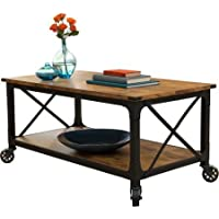 Antiqued Black Rustic Country Coffee Table Living Room Furniture Pine Finish