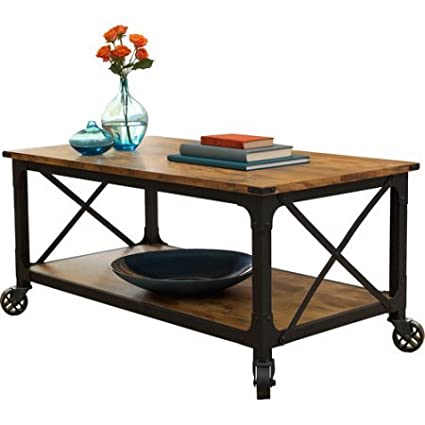 Amazon Com Antiqued Black Rustic Country Coffee Table Living Room