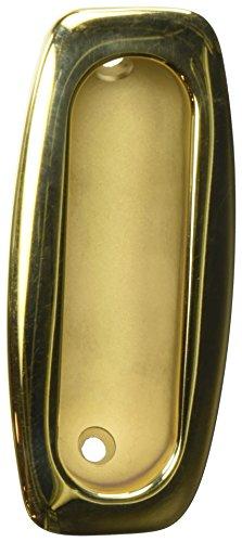 Baldwin 0458031 Sliding Door Flush Pull, Unlacquered Bright Brass