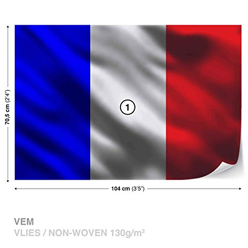 (French Flag France Wall Mural Photo Wallpaper Room Décor (1586WS))