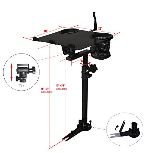 AA-Products K005-B1 Car Laptop Mount Truck Vehicle Notebook Stand Holder With Non-Drilling Bracket by AA Products Inc. (Image #1)