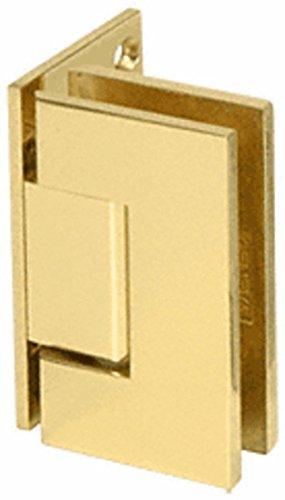 C.R. LAURENCE V1E044BR CRL Polished Brass Vienna 044 Series Wall Mount Offset Back Plate Hinge
