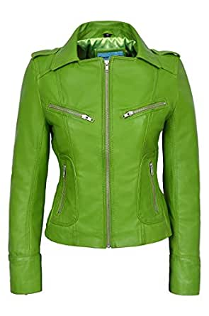 rider ladies lime green biker motorcycle style soft real