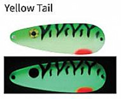 Moonshine Casting Spoons (Yellow Tail, 5/8 Ounce) by Moonshine Lures