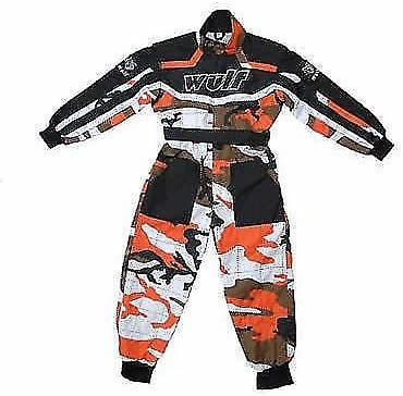 Wulf wulfsport Enfant Camouflage Race Combinaison de Motocross LT PW Karting Enfant New