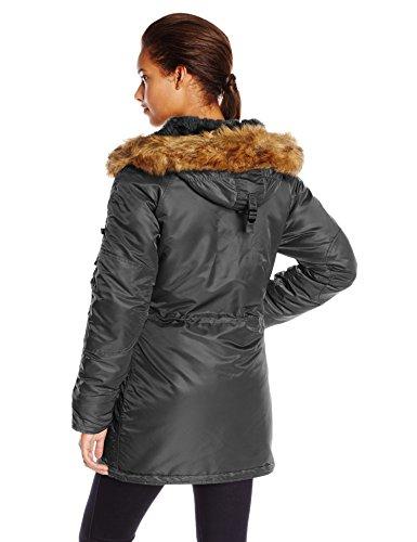Slim Nylon Parka Flight Black N Women's Industries Alpha 3B Fit IxBfCBvq