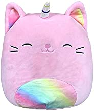 Squishmallow 8 Inch Sabrina The Pink Rainbow Caticorn Stuffed Animal, Super Pillow Soft Plush Toy