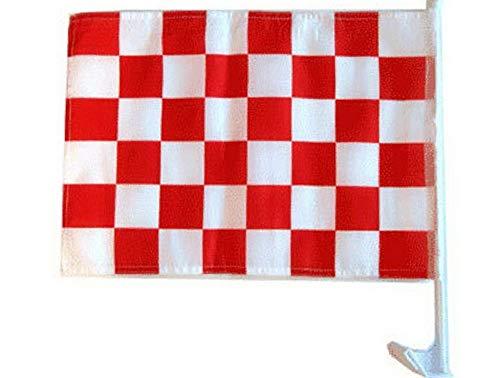 - Hebel 12x18 Red White Checker Checkered Race Car Window Vehicle 12x18 Flag | Model FLG - 550