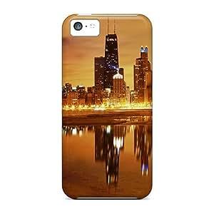 MMZ DIY PHONE CASEPATngAX8015LQXQg Faddish Chicago Nights Case Cover For iphone 6 plus 5.5 inch