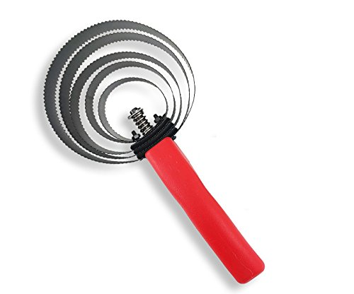 Spiral Steel Curry Comb - 5 Ringed Curry Comb (Red/Black)