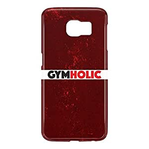 Loud Universe Samsung Galaxy S6 3D Wrap Around Gymholic Print Cover - Maroon