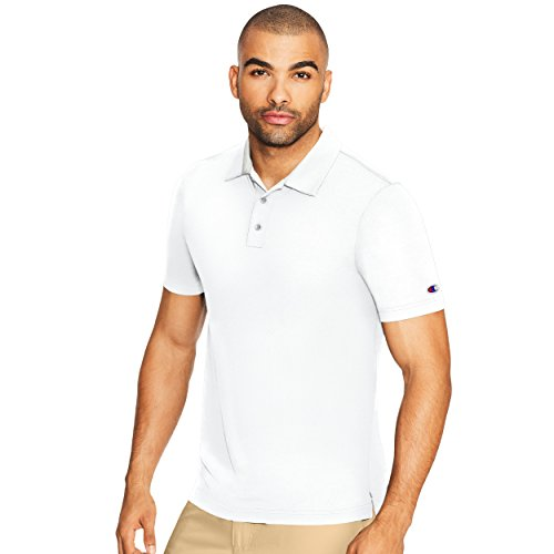 Champion Men's Golf Polo, White, L ()