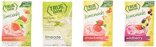 True Lemon Strawberry, Wildberry, Limeade, Watermelon (Pack of 4) 10ct each box. True Citrus Newest Flavors Kit.