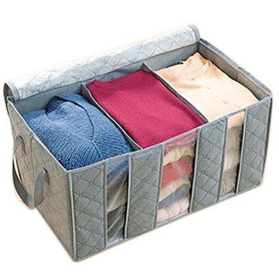 Ropa orden Caja de bambú 58 x 35 x 28 cm Con 3 ...