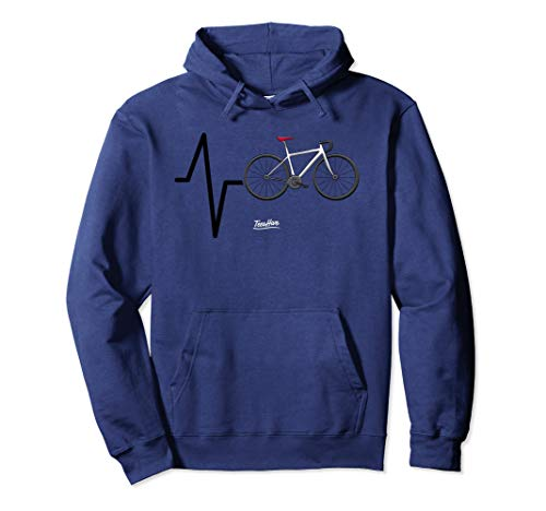 Cycling Heartbeat Cycling Themed Funny Cycling Lovers Hoodie