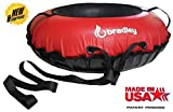 """Bradley Commercial Towable Snow Tube Sled and Heavy Duty Cover (50"""" Red)   Made in USA"""