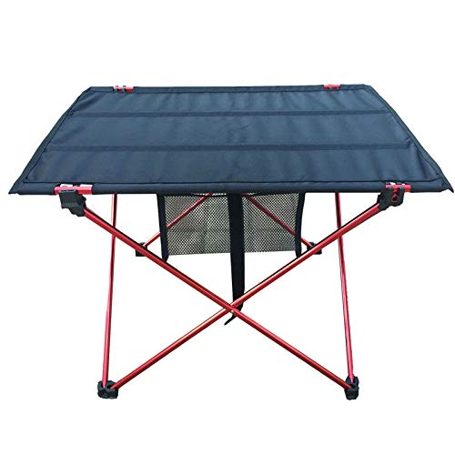 OTTAB Outdoor Picnic Table Camping Aluminium Alloy Picnic Table Waterproof Ultra-Light Durable Folding Table Desk for Picnic& Camping Red Small by OTTAB