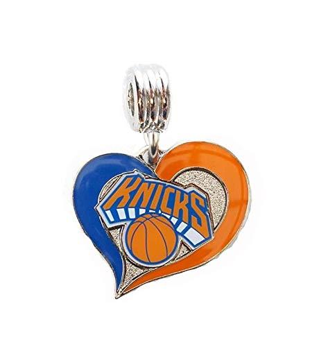 Bracelets Ny Knicks - Heavens Jewelry NY York Knicks Basketball Team Charm Slider Pendant for Your Necklace Charm Bracelet (Fits Most Name Brands) Shoe Laces DIY Projects ETC