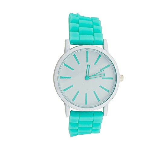 Lux Accessories Turquoise Mint Bracelet Analog Sports Wrist Watch from Lux Accessories