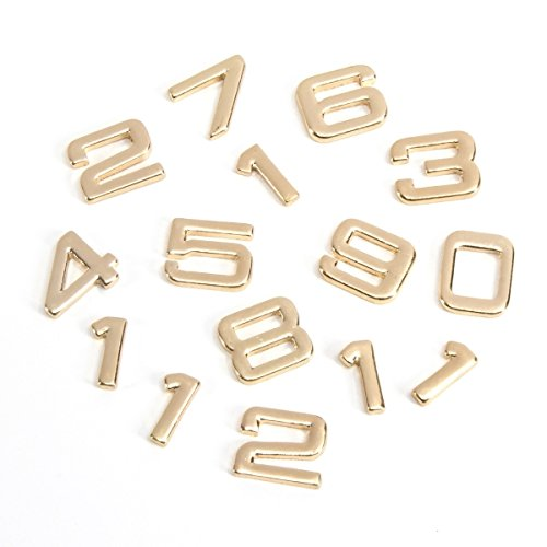 Darice DIY Gold Metal Eurostile Font Clock Numbers, 15 Piece ()