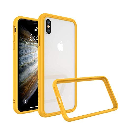 new arrival f14ca 6a5e7 RhinoShield Bumper for iPhone Xs/X [CrashGuard NX] | Shock Absorbent Slim  Design Protective Cover [3.5M / 11ft Drop Protection] - Yellow