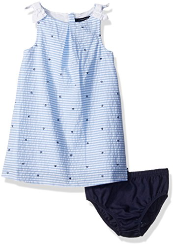 Nautica Girls Seersucker Dress Shoulder