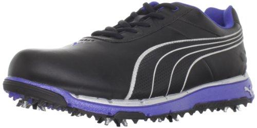 PUMA Men's Faas Trac Golf Shoe,Black/Silver Metallic/Surf The Web,10 D US