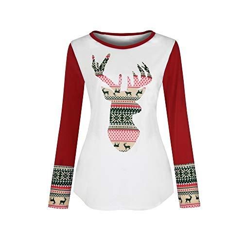 GODTOON シャッツ セーター レディーズ 大きい 秋服 冬 クリスマス 2色展開 プリント鹿 カラーマッチング 日常 透かし彫り 出かけ 新品 人気 長袖 柔らかい 普段着 シンプル かわいい 着痩せ カジュアル 魅力 個性 ファクション