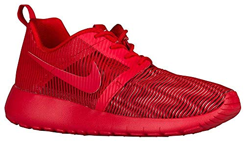 Nike Roshe One Flight Weight Big Kids Style Shoes : 705485, University Red/University Red, 5.5 (Nike Roshe Run Siren Red For Sale)
