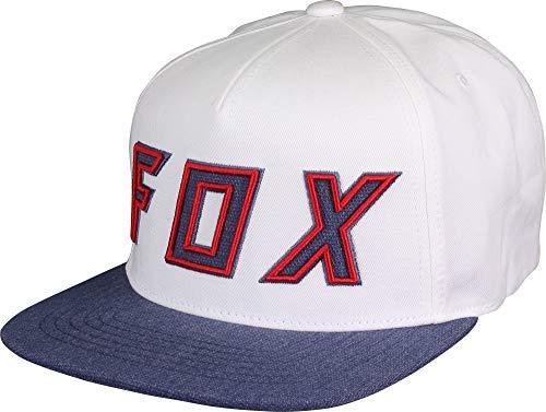 - Fox Men's Flat Bill Snapback Hat, Blue 2, OS