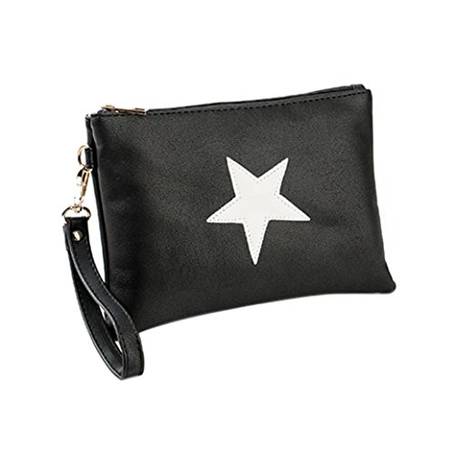 SHOBDW Bags Clutch Holders Wallet Handbag Women Zipper Purse D Womens Coin Envelope Stars Fashion Card wBqEU45d
