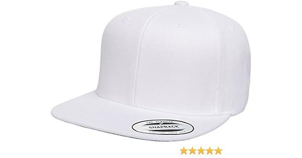 Amazon.com  6089M Classic Snapback Pro-Style Wool Cap by Flexfit (White)   Clothing daac3e1ff54