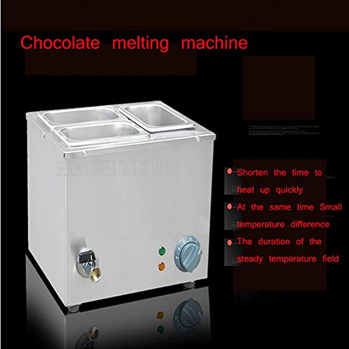 Commerical Three-cylinder Electric Chocolate Fountain Fondue Hot Chocolate Melt Pot Melter Machine (110V) by Hanchen Instrument® (Image #1)