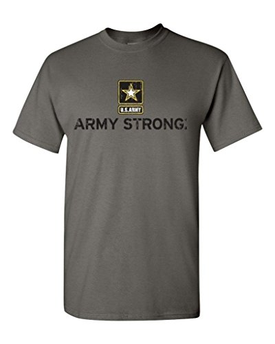 Artix Army Strong US Army Unisex T-Shirt Cool Shirts Large Dark Heather