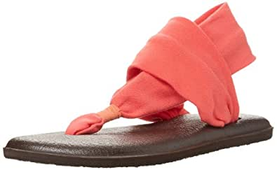 Sanuk Women's Yoga Sling 2 Flip Flop,Coral,5 M US