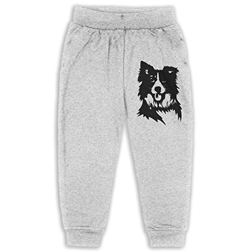 ELCW37K Kids & Toddler Pants Soft Cozy Baby Sweatpants Border Collie Fleece Pants Jogger Pants