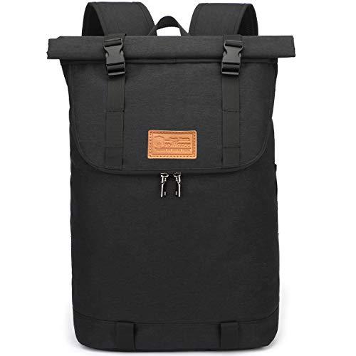 Myhozee Rucksack Herren Damen, Wasserabweisend Laptop Rucksack, Diebstahlschutz Roll Top Rucksäcke Daypacks…