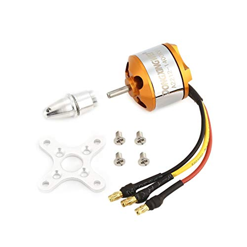 Exiao DXW A2212 2212 1400KV 2-4S 3.17mm Outrunner Brushless Motor for RC FPV Fixed Wing Drone Airplane Aircraft 9050 -